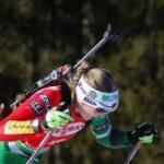 Дарья Домрачева вырвала победу в густом снегопаде