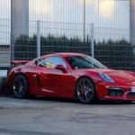 Porsche Cayman Gt4 заметили без камуфляжа