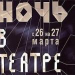 70 московских театров примут участие в акции «Ночь в театре»