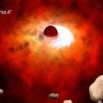 Учёные увидели необычные структуры вокруг черной дыры