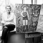 Евгения Васильева открыла очередную выставку в Москве