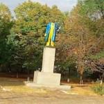 В Запорожской области снесли памятник Ленину