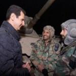 Асад посетил военных на линии фронта в канун Нового года