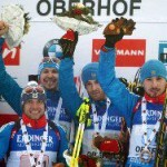 Сборная России по биатлону выиграла эстафету в Оберхофе