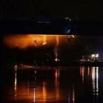 Мост в центре Варшавы тушили более 10 часов
