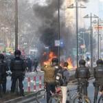 70 полицейских ранены во время протестов у штаб-квартиры ЕЦБ
