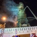 Пожар в Новодевичьем монастыре потушен