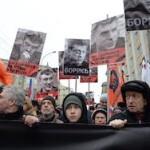 В Москве началось траурное шествие в память о Немцове