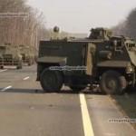 На Украине разбился бронеавтомобиль «Саксон»