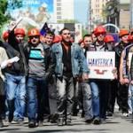Профсоюз: половина государственных шахт Украины бастуют