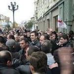 """Активисты """"автомайдана"""" вышли на митинг у здания правитльства"""