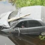 На Урале автомобиль с пассажирами сорвался с обрыва